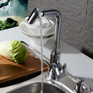 Elegant Multi-Directional Rotatable Brass Casting Kitchen Faucet