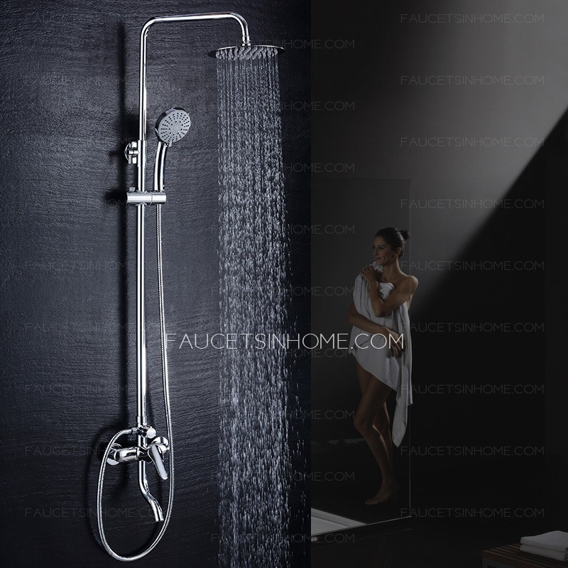 Designed Elevating Pipe Shower Faucet With Hand Shower