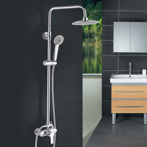 Modern Big Sun Top Hand Shower In Shower Faucet Set