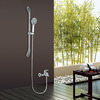 High End Shower Faucet Set With Elevating Pipe And Hand Shower