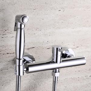 Best Brass Wall Mounted Hand Held Spray Bidet Faucet