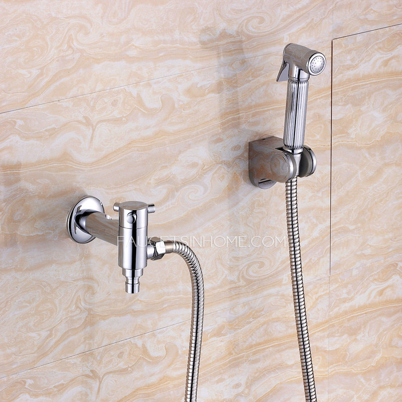 Fashion Cross Handle Bidet Faucet With Hand Held Spray