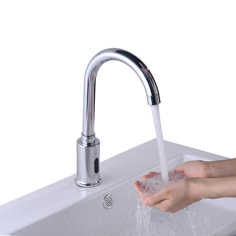 Modern Rotatable Touchless Faucet For Public Toilets