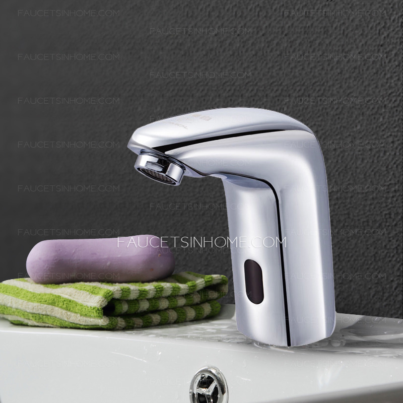 Classic Automatic Brass Cold Water Only Touchless Faucet