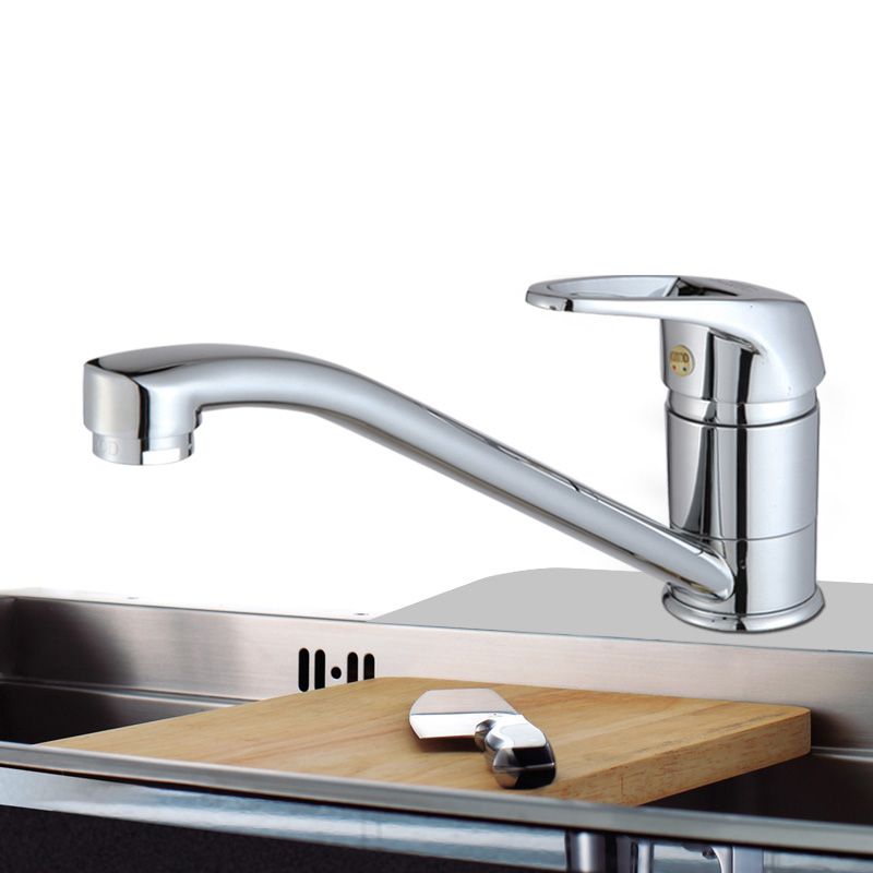 discount brass single hollow handle kitchen faucet