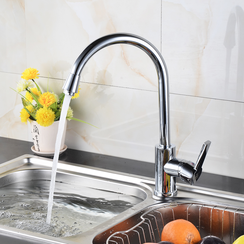 Modern kitchen sinks and faucets