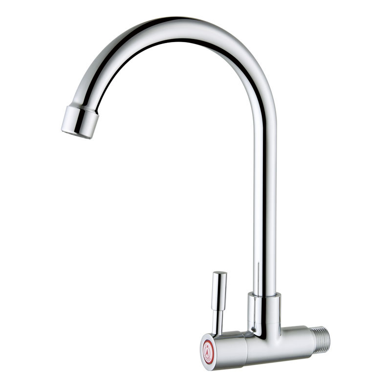 Wall Mounted Cold Water Only Copper Kitchen Faucet