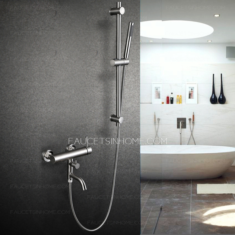 Modern Stainless Steel Wall Mounted Outdoor Shower Faucet