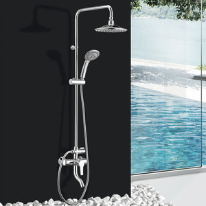 Fashion Outside Shower Faucet With Top And Hand Shower