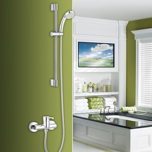 Simple Brass Hand Held Shower In Outside Shower Faucet