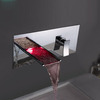 Luxury Brass Waterfall Concealed Wall Mounted LED Faucet