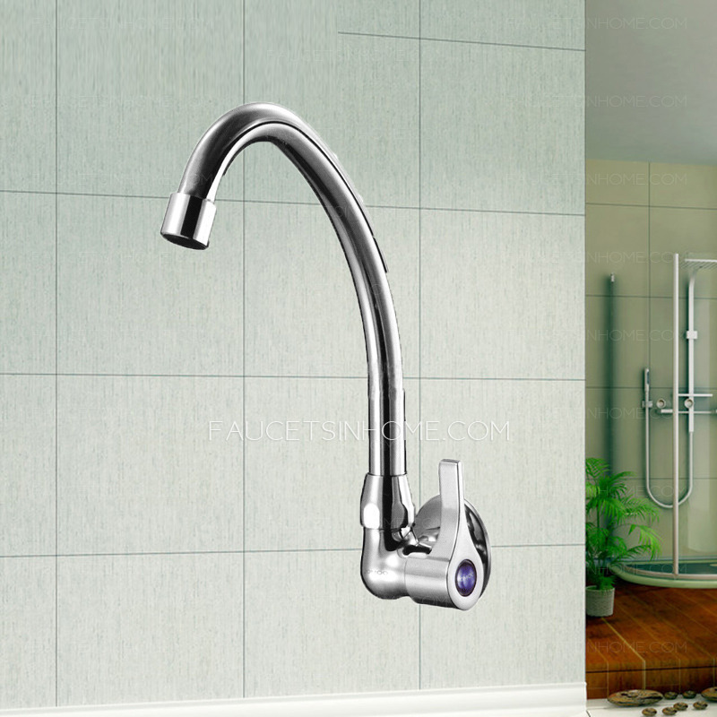 Discount Brass Fast Flow Clod Water Wall Mounted Kitchen Faucet