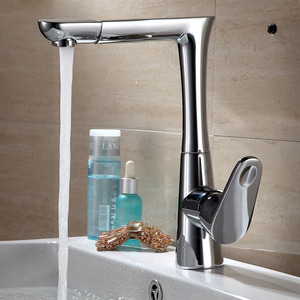 Top Rated Rotatable Brass Deck Mounted Kitchen Faucet