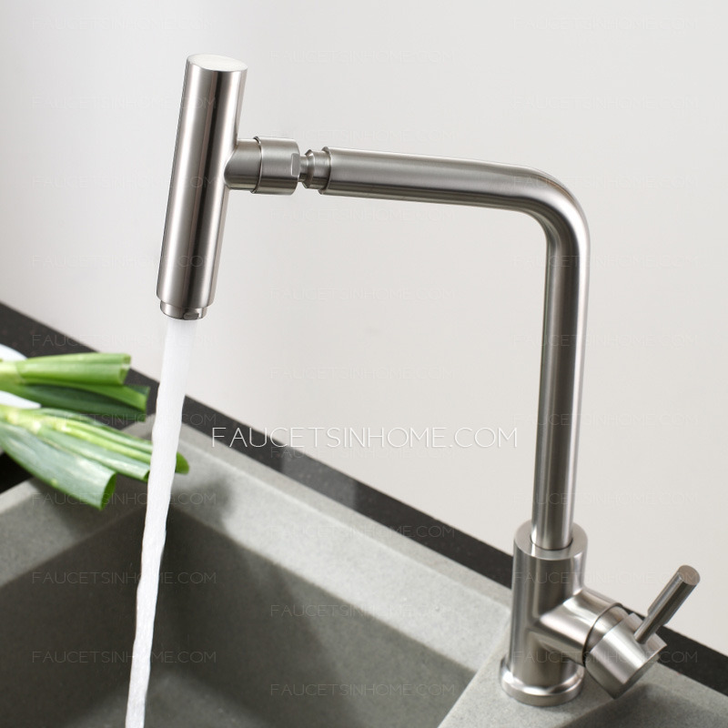 Best Full Rotatable Polished Nickel Professional Kitchen Faucet