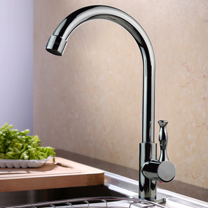 Discount Brass Rotatable Cold Water Kitchen Sink Faucet