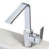 Contemporary Brass Single Hanlde Kitchen Sink Faucet