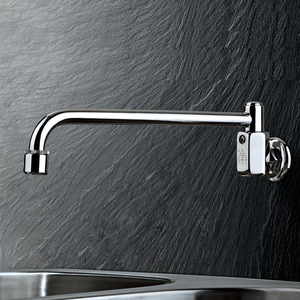 Best Wall Mounted Thick Brass Hands Free Kitchen Sink Faucet