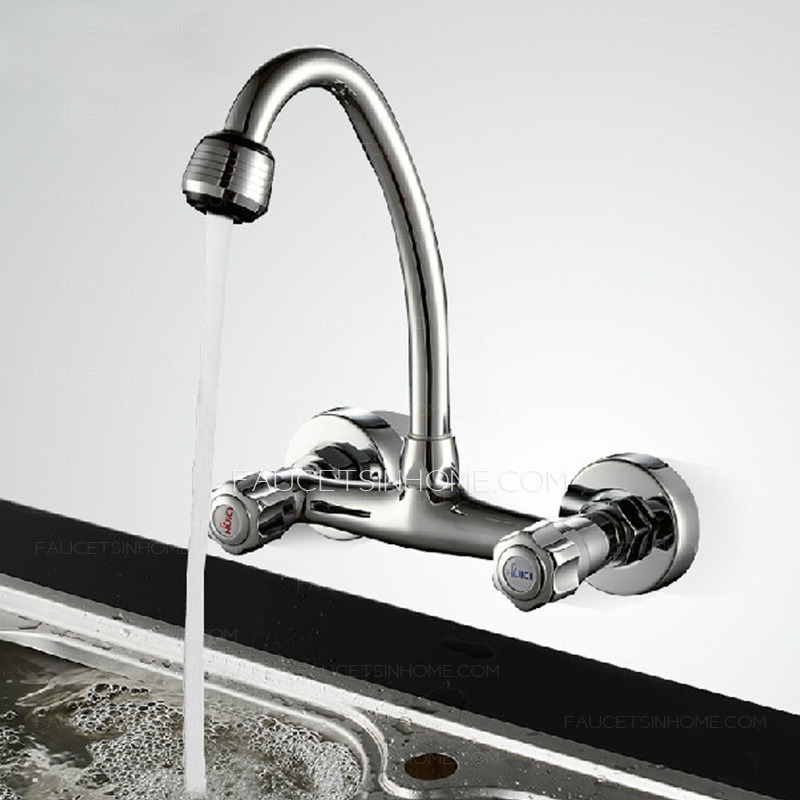 Cheap Kitchen Sinks And Faucets : ... Faucets > Cheap Cooper Wall Mounted Two Holes Kitchen Sink Faucet