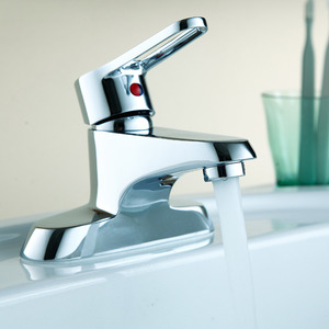 Modern Hollow Single Handle Deck Mounted Bathroom Faucet