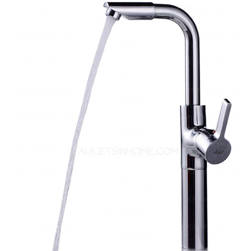 Cool Vessel Heightening Deck Mounted Bathroom Faucet