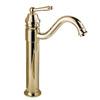 Retro Gold Vessel Heightening Brass Bathroom Sink Faucet