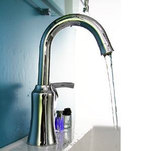 Simple Brass Rotatable Streamlined Thick Bathroom Faucet