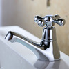 Small Single Cross Handle Cold Water Bathroom Sink Faucet