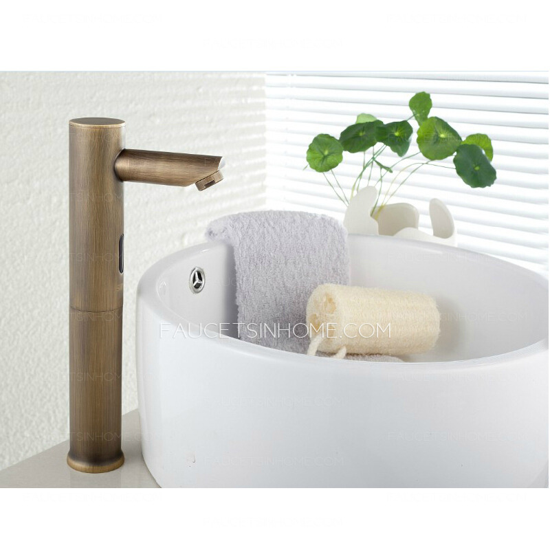 Antique Brass Infrared Sensing Touchless Sink Faucet