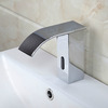 Fashion Chrome Brass Waterfall Automatic Touchless Sink Faucet