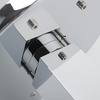 Artistic Brass Two Holes Single Hollow Handle LED Faucet