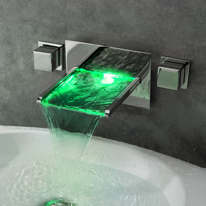 Besy Temperature Changing Color Wall Mounted LED Faucet