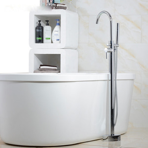 High End Floor Standing Rotatable Bathtub Faucet Shower System