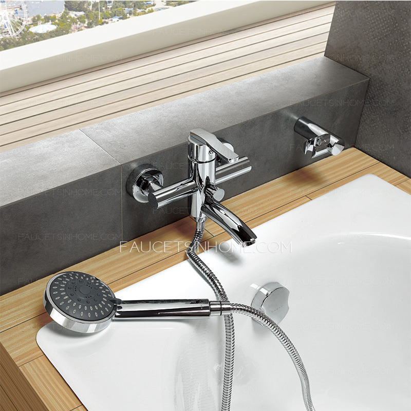hand held shower head for bathtub faucet.  Best Without Hand Held Shower Wall Mounted Bathtub Faucet