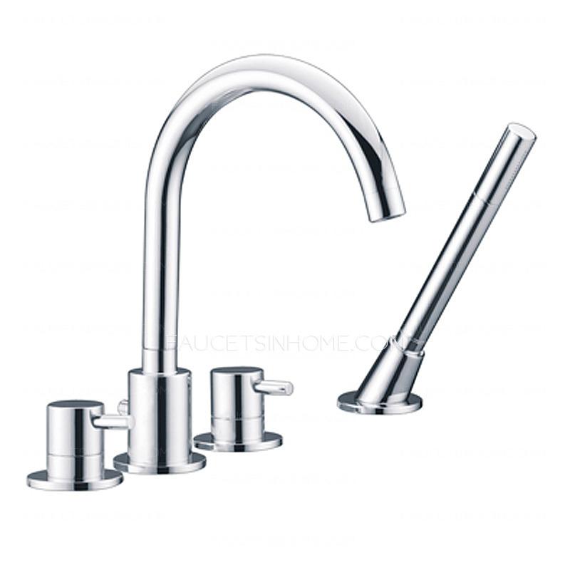 High End Faucets : High End Rotatable Sidespray Roman Tub Bathtub Faucet