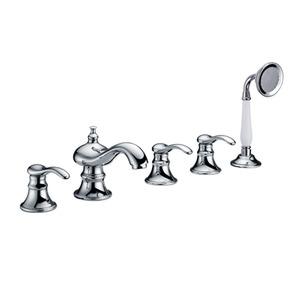 Vintage Five Hole Sidespray Bathtub Shower Faucet