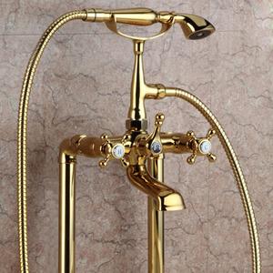 Vintage Sidespray Two Holes Tall Bathtub Shower Faucet