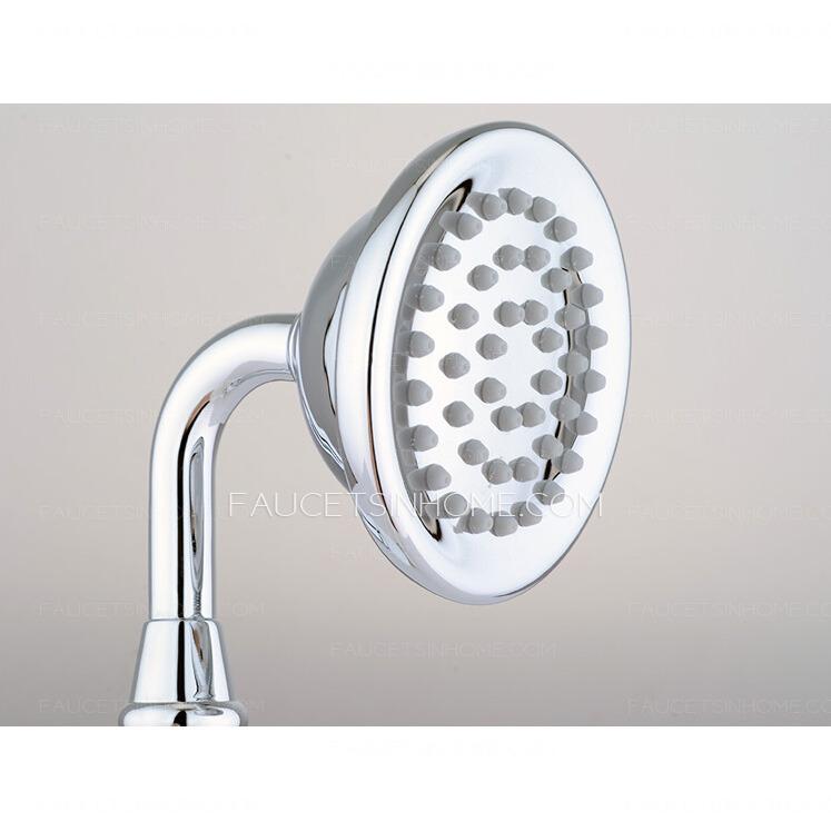 Antique White Ceramic Handle Side Spray Bathtub Shower Faucet