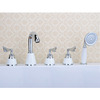 Antique White Ceramic Handle Side Spray Bathtub Shower Faucet
