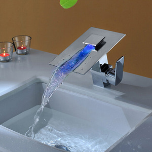 High End Waterfall LED Faucet With Single Handle