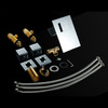High End Waterfall Three Hole LED Bathroom Sink Faucet