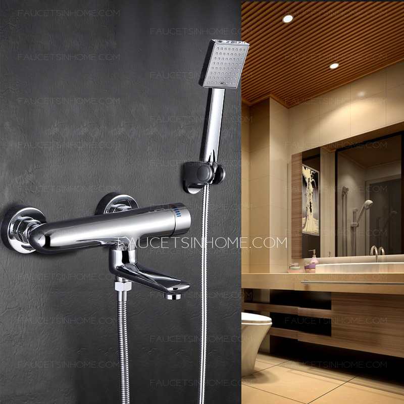 Simple Three Hole Wall Mount Tub Shower Faucet
