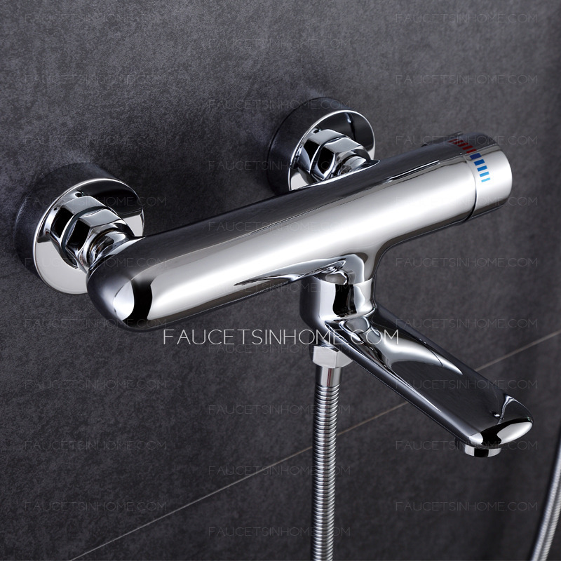 3 Hole Tub Faucet : Simple Three Hole Wall Mount Tub Shower Faucet