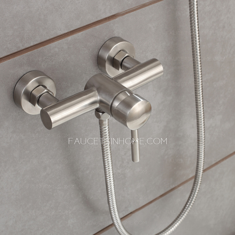 Modern Stainless Steel Slim Wall Mount Shower Faucet