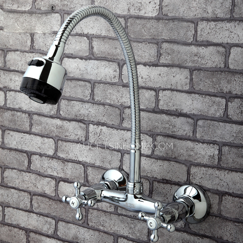 Old Full Rotatable Wall Mounted Kitchen Sink Faucet