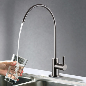 Fashion Tall Bent Stainless Steel Kitchen Sink Faucet