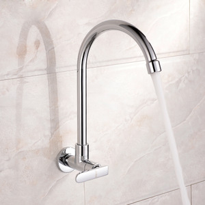 Discount Rotatable Wall Mount Kitchen Faucet For Cold Water