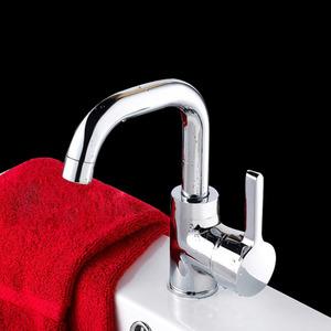 Cheap Rotatable Seven Shaped Single Handle Kitchen Sink Faucet