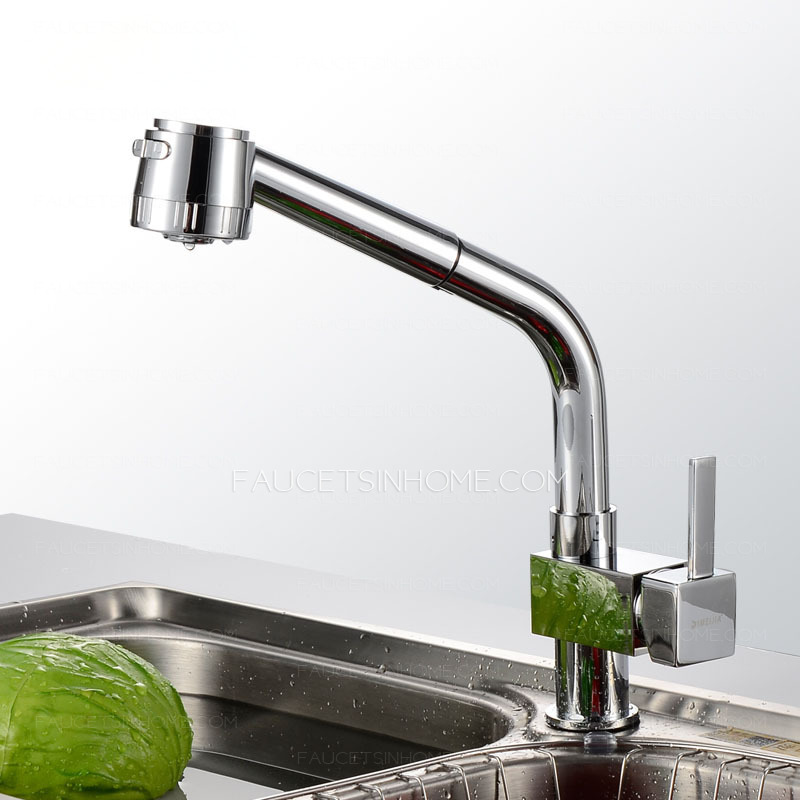 High End Pullout Spray Copper Kitchen Sink Faucet