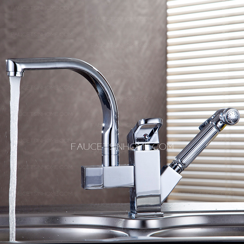 High end kitchen faucets silver brass chrome reviews on for Restaurant style kitchen faucet