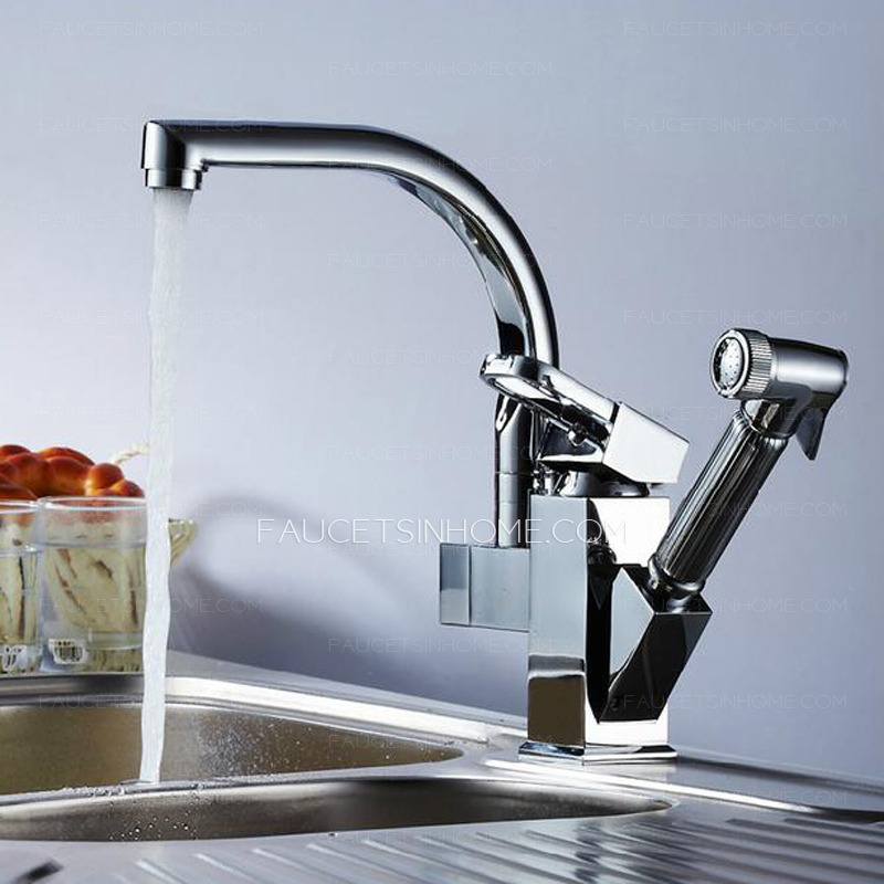 High End Faucets : High End Rotatable Kitchen Faucet With Pullout Spray Gun